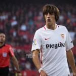 Bryan Gil durante un partido con el Sevilla. / lacanteracadiz.es