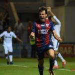 Juanjo Camacho celebra un gol en Segunda División / LaLiga