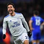 Víctor Camarasa celebra un gol con el Cardiff City / Premier League