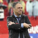 Caparrós, durante su última etapa como entrenador (Sevilla FC)