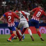 Moreno, ante el Atlético (Rayo Vallecano)