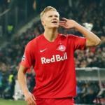 Haland celebrando un gol con el Salzburgo. / defensacentral.com