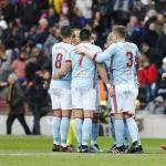 El Celta celebrando un gol al Barcelona / twitter