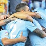 Celta, celebrando un gol / twitter