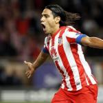 Radamel Falcao celebra un gol con el Atlético de Madrid/ Lainformacion.com