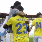 Los jugadores del Cádiz celebrando la victoria ante el Zaragoza. / cadizcf.com
