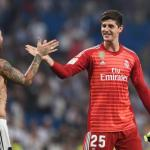 Courtois, con el Madrid / Twitter