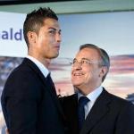 Cristiano Ronaldo y Florentino Pérez, cuando el portugués jugaba en el Real Madrid.