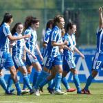 Las jugadoras del Depor celebrando un gol. / lavozdegalicia.es