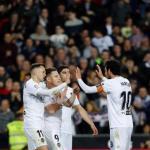 Cheryshev, Gameiro, Guedes y Parejo (Valencia CF)