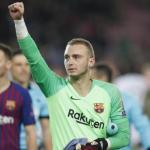 Cillessen, al terminar un partido con el Barça (FC Barcelona)