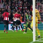 'Los Leones', celebrando el gol anotado ante el Eibar (Athletic Club)