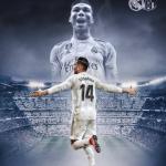 Casemiro, en un cartel hecho por el club (Real Madrid)