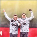 Ander Herrera y Marcos Rojo (Manchester United)
