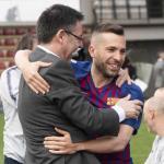 Bartomeu y Alba, durante la jornada de ayer (FC Barcelona)