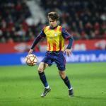 Riqui Puig, anoche con la Selección de Catalunya (FC Barcelona)