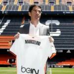 Marcelino en su presentación con el Valencia / Valencia