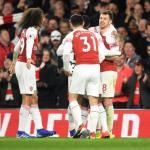 Ramsey celebra su gol de esta noche (Arsenal)