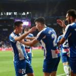 Wu Lei y Marc Roca celebran un gol (RCD Espanyol)