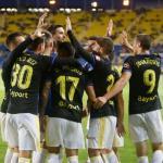 Machís, junto a sus compañeros (Cádiz CF)
