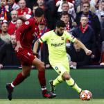 Suárez, ante el Liverpool (FC Barcelona)