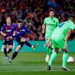 Coutinho, durante el partido (FC Barcelona)