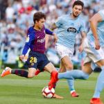 Riqui Puig, durante el partido en Vigo (FC Barcelona)