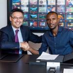 Bartomeu y Abidal, el día de la presentación del segundo (FC Barcelona)