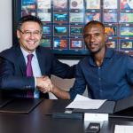 Bartomeu y Abidal, el día del fichaje del francés (FC Barcelona)