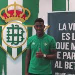 Júnior, el día de su ascenso al primer equipo (Real Betis)