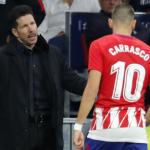 """Diego Pablo Simeone recupera a Carrasco para el tramo más importante de la temporada """"Foto: Mundo Deportivo"""""""