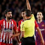 Diego Costa, expulsado ante el Barcelona / twitter