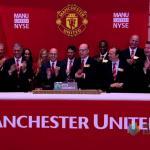 Joel Glazer y la directiva del Manchester United. Foto: Youtube.com