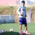 Simeone, durante un entrenamiento (Atlético de Madrid)