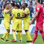 Ekambi, celebrando un gol (Villarreal CF)