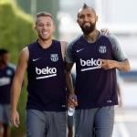 Arthur y Vidal (FC Barcelona)