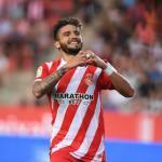 Portu celebra un gol con el cuadro catalán (Girona FC)