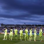 Los jugadores del Barça, antes del partido (FC Barcelona)