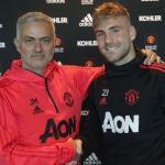 Mourinho y Shaw (Manchester United)