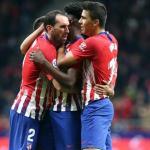 Godín, Thomas y Rodri (Atlético de Madrid)