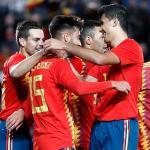 Los jugadores de 'La Roja', celebrando un gol (Selección Española)