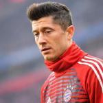 Lewandowski en un partido con el Bayern / Bayern