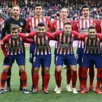 El once que salió ante el Valladolid (Atlético de Madrid)