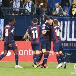 Los jugadores armeros, celebrando un gol (SD Eibar)