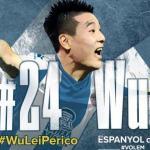Anuncio de la llegada de Wu Lei al RCD Espanyol / RCDE.