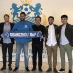 Dembele, en su nuevo club (Guangzhou R&F)