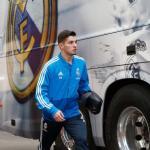 Brahim, camino del autobús del equipo (Real Madrid)