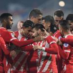 Los jugadores gerundenses, celebrando un gol (Girona FC)