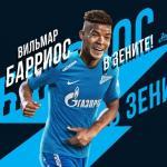 Barrios, en el cartel de su fichaje (Zenit de San Petersburgo)