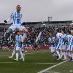 En-Nesyri, celebrando uno de los goles de hoy (CD Leganés)